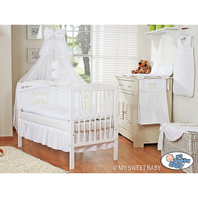 Lit Blanc Pour Bébé Avec Parure - Lit Pour Enfant Avec Matelas