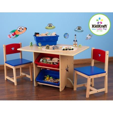 Ensemble table pour enfant et ses 2 chaises étoile