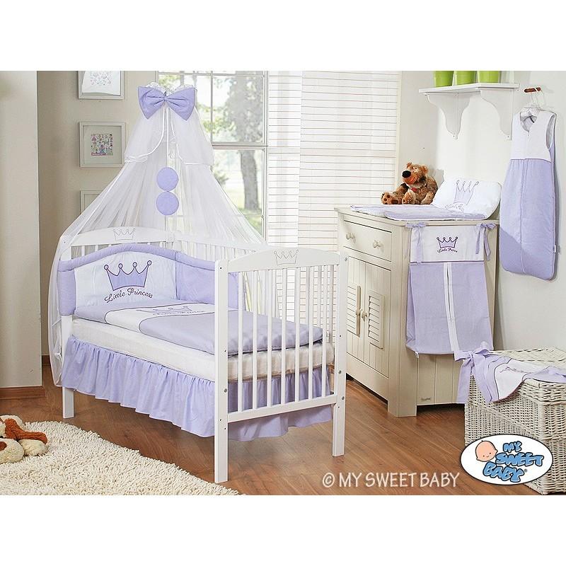 lit pour enfant parure violette lit pour b b avec matelas. Black Bedroom Furniture Sets. Home Design Ideas