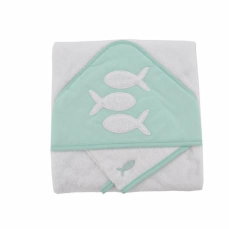 coffret sortie de bain + gant poisson