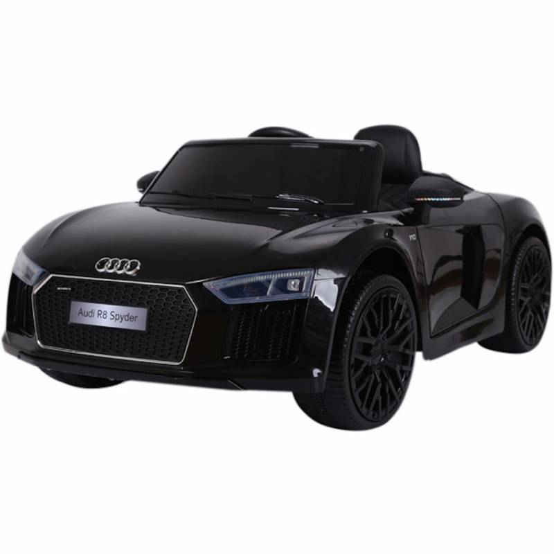 voiture lectrique pour enfant audi r8 spyder rs noire. Black Bedroom Furniture Sets. Home Design Ideas