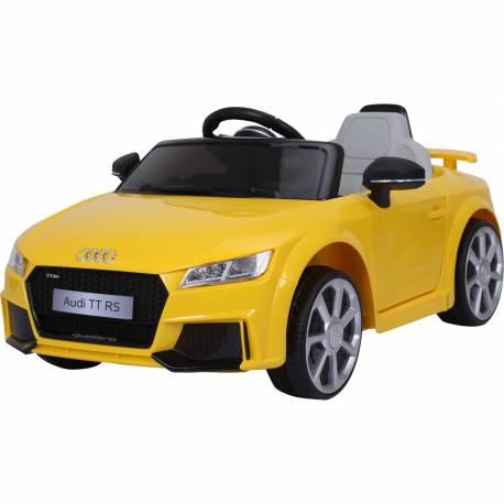 Voiture électrique pour enfant Audi TT RS jaune