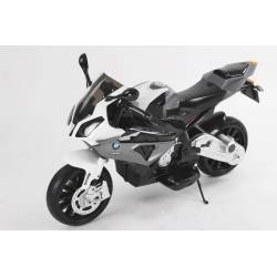 Moto électrique BMW S1000 RR 12 V grise - moto électrique pour enfant