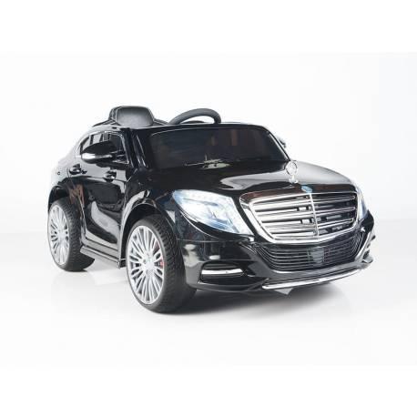 Voiture électrique pour enfant Mercedes Benz S600 métallisée métallique noire - pack luxe