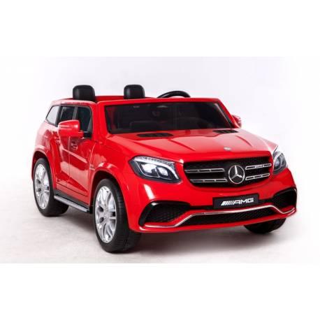 Voiture électrique pour enfant Mercedes Benz GLS 63 deux places métallisée rouge