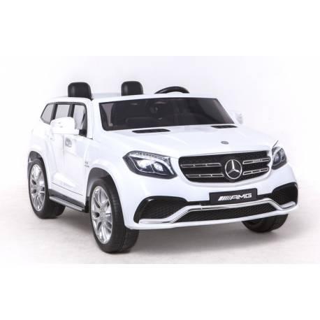 Voiture électrique pour enfant Mercedes Benz GLS 63 deux places métallisée blanche