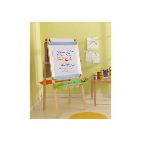 Chevalet d'artiste avec rouleau de papier