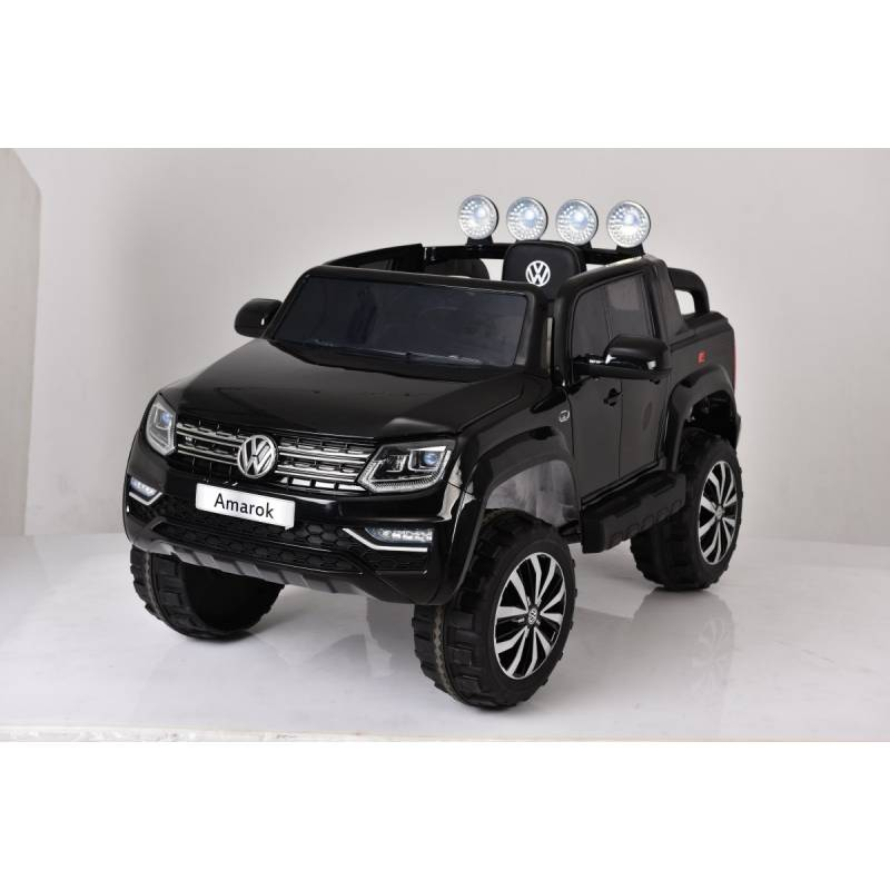 voiture lectrique amarok volkswagen noire voiture 12v. Black Bedroom Furniture Sets. Home Design Ideas