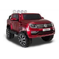 voiture électrique Amarok Volkswagen peinture rouge