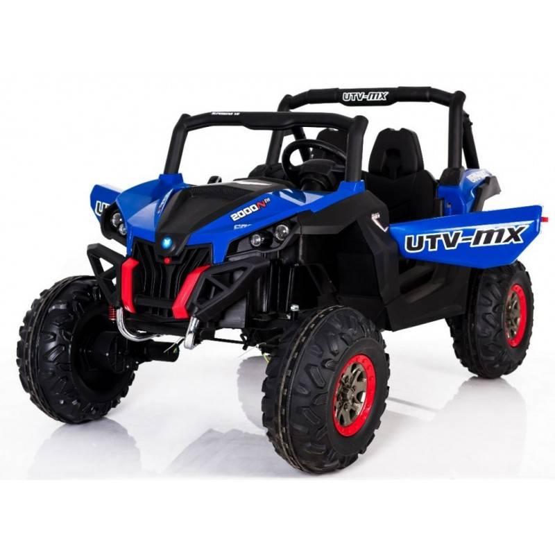 4x4 buggy utv mx 24 v bleu deux places voitures lectriques pour enfant. Black Bedroom Furniture Sets. Home Design Ideas