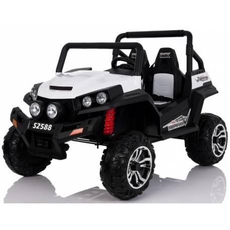 4X4 Buggy 24 V blanc deux places