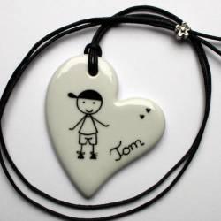 Bijou pendentif personnalisé coeur 1 personnage