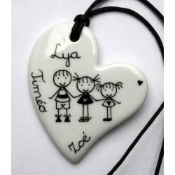 Bijou pendentif personnalisé coeur