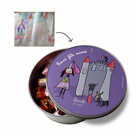 boîte métal ronde personnalisée