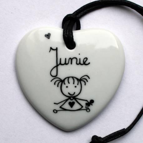 Bijou pendentif personnalisé coeur classique 1 personnage