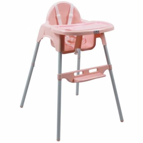 Chaise haute simple rose