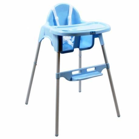 Chaise haute simple bleue