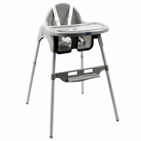 Chaise haute simple grise
