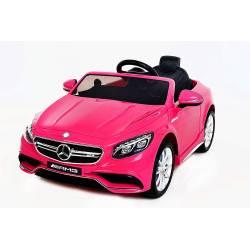 Voiture électrique pour enfant Mercedes Benz S63 AMG rose