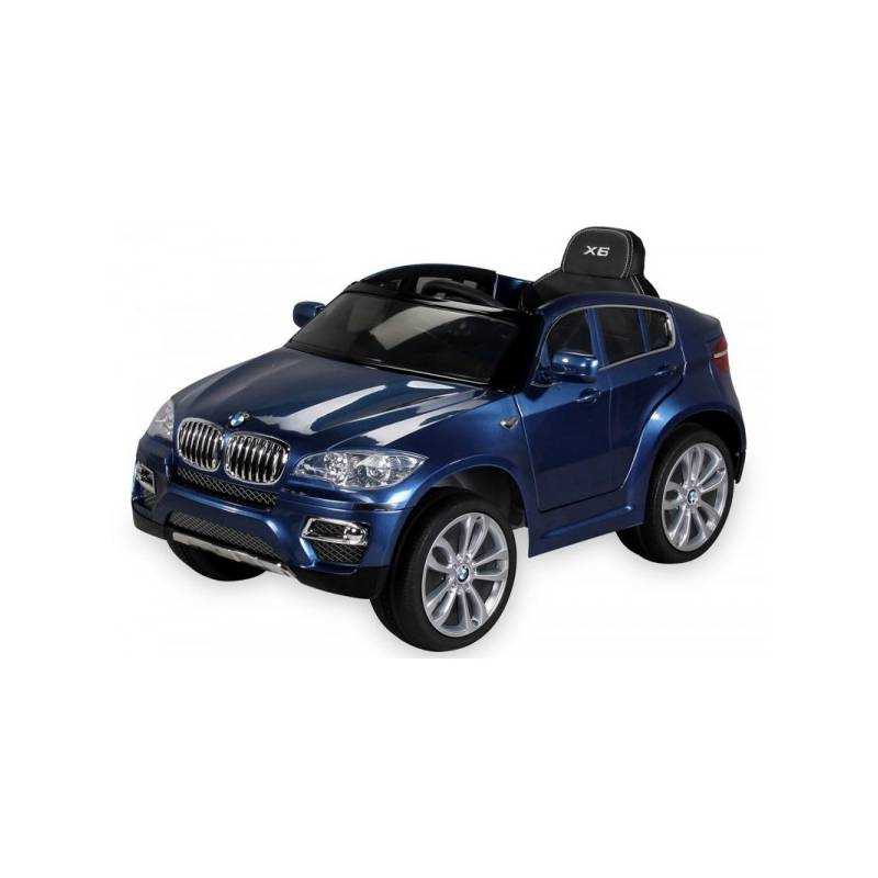 voiture lectrique pour enfant bmw x6 luxe m tallis e bleu si ge cuir. Black Bedroom Furniture Sets. Home Design Ideas