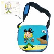 Petit sac à bandoulière bleu personnalisé