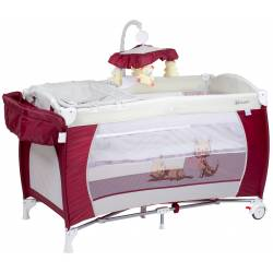 Lit parapluie sleeper deluxe rouge bordeaux