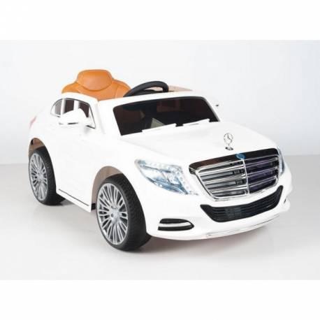 Voiture électrique pour enfant Mercedes Benz S600 blanche