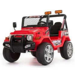 4X4 jeep électrique Transporter 2 places 12V bleu
