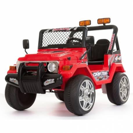 4X4 jeep électrique 2 places 12V rouge