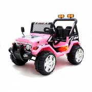 4X4 jeep électrique 2 places 12V rose