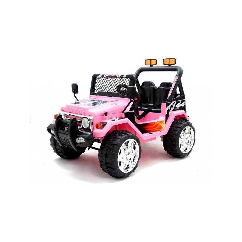 4x4 jeep lectrique rose 2 places voiture lectrique 12v pour enfant. Black Bedroom Furniture Sets. Home Design Ideas