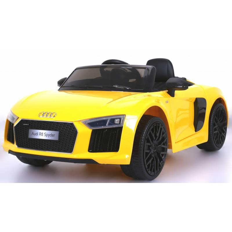 Voiture Electrique Audi R8 : voiture lectrique pour enfant audi r8 spyder jaune ~ Mglfilm.com Idées de Décoration