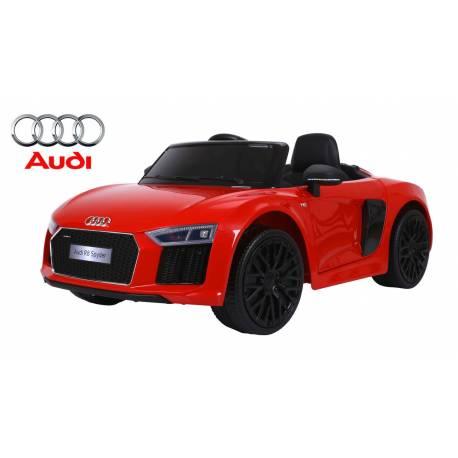 Voiture électrique pour enfant Audi R8 Spyder rouge bluetooth