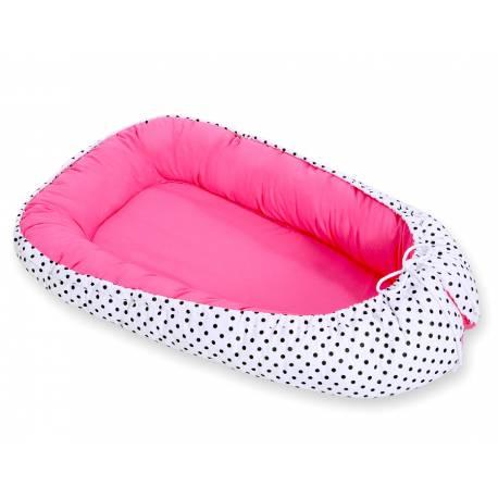 Réducteur de lit bébé dark pink