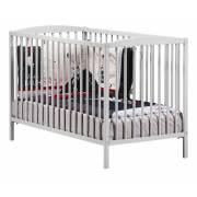 Lit pour bébé à barreaux gris New Nao Sauthon