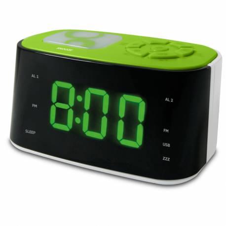 Radio Réveil veilleuse vert