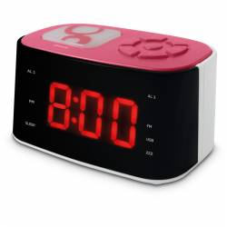 Radio Réveil veilleuse rose