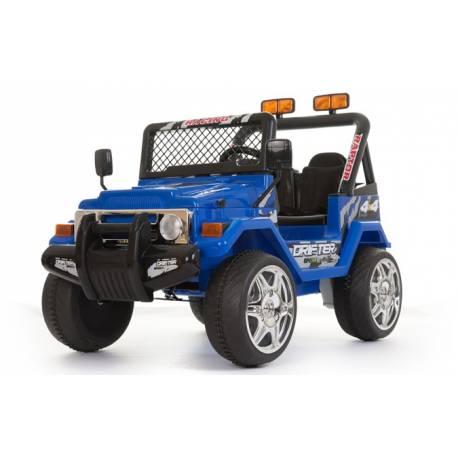 4X4 jeep électrique 2 places 12V bleu