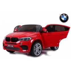 voiture électrique pour enfant BMW X6 M rouge, siège cuir