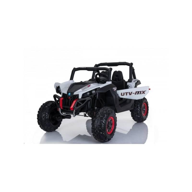 4x4 buggy utv mx 24 v lcd blanc deux places voitures. Black Bedroom Furniture Sets. Home Design Ideas