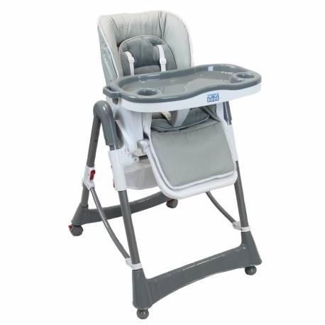 Chaise haute grise