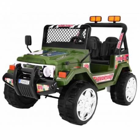 4X4 jeep électrique 2 places 12V verte