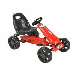 Karting pour enfant à pédales rose