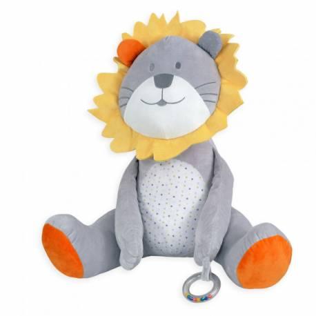Grande peluche lion 56 cm collection fanfan et léo