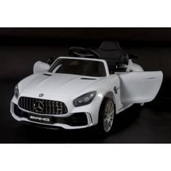 Voiture électrique pour enfant Mercedes Benz GTR blanche