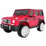 Voiture électrique pour enfant Mercedes Benz G65 AMG de luxe métallisé rouge
