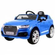 Voiture électrique pour enfant Audi Q7 S Line peinture bleue- pack luxe