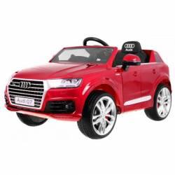 Voiture électrique pour enfant Audi Q7 S Line peinture rouge- pack luxe