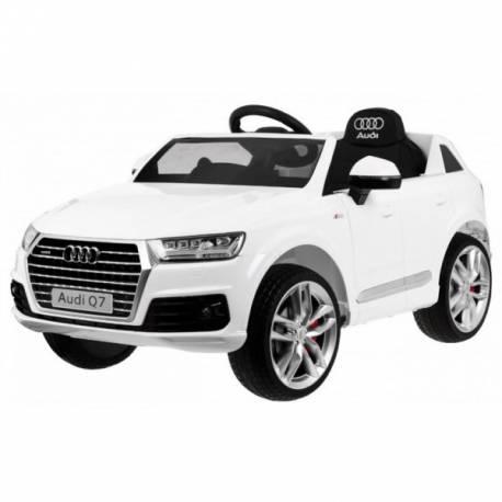 Voiture électrique pour enfant Audi Q7 S line blanche