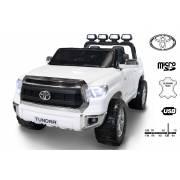 Voiture électrique Toyota Tundra XXL deux places en cuir blanche
